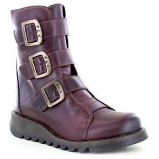 FLY London SCOP110FLY Womens Purple Leather Boots